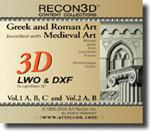 Bundle Volume 1 & 2: Greek, Roman and Medieval Art, LWO+DXF, Mac/Win