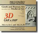Bundle Volume 1 & 2: Greek, Roman and Medieval Art, CAR+DXF, Mac/Win