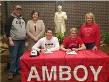 Reece Vaessen Signing to Play Football @ Olivet Nazarene Justin Hart Signing to Play Basketball @ North Central
