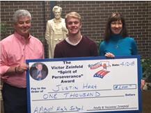 "Justin Hart Receives Victor Zeinfeld ""Spirit of Perseverance"" Award"