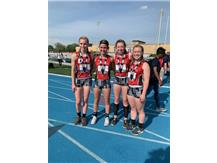 Ashley Althaus, Emma Lundquist, Brooklyn Whelchel, Sidney Corcoran 2019 5th Place 4 x 400 Relay