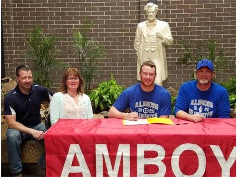 Cain Powers signs to attend Illinois College and play football.