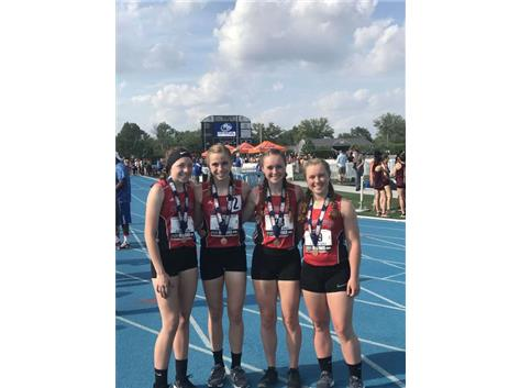 Whelchel, Althaus, C. Corcoran, S. Corcoran 2018 4 x 400 8th Place
