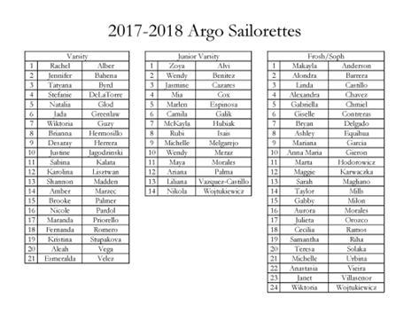 2017-2018 Argo Sailorettes