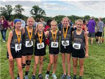 2019 AGS CC Team Participates in the SIUE First to the Finish CC Meet 9/1/19 The girls placed 6th as a team & boys placed 17th.
