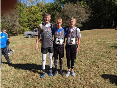 AGS boys win 6th place team at the state meet. Colten, Cole, & Reid place in the top 50.