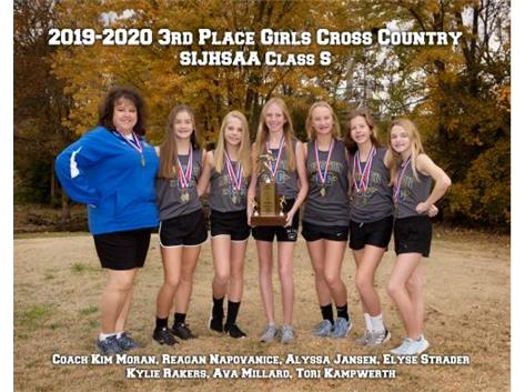 2019 Girls Cross Country 3rd in State