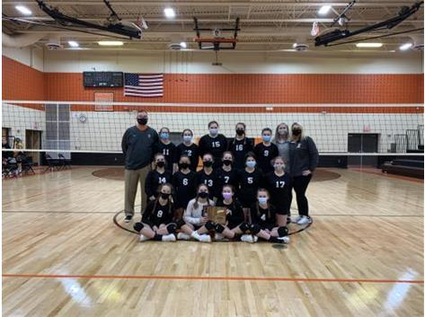 2021 7th Grade Volleyball 3a Regional Champions