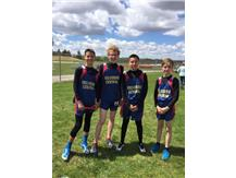7th Grade Boys 4x4 relay 1st place 2017