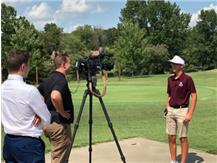 WSIL filming before the Mt. Vernon match