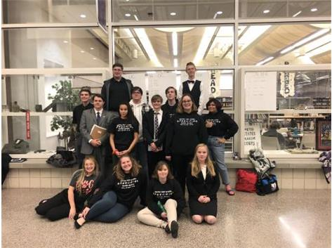 The BCHS Speech team at the Mascoutah Tournament. The team placed 7th overall and placed 3rd in the limited entry division.