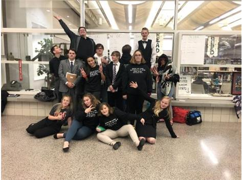 The BCHS Speech team showing their true selves at the Mascoutah tournament.