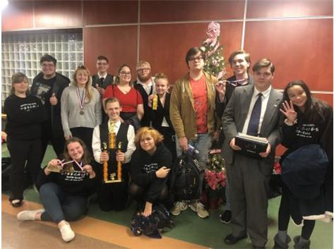 The BCHS Speech team placed 1st in the limited entry division and 6th overall at the Mt. Vernon tournament.