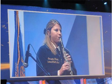 Samantha Haney performing solo in the National FFA Concert.