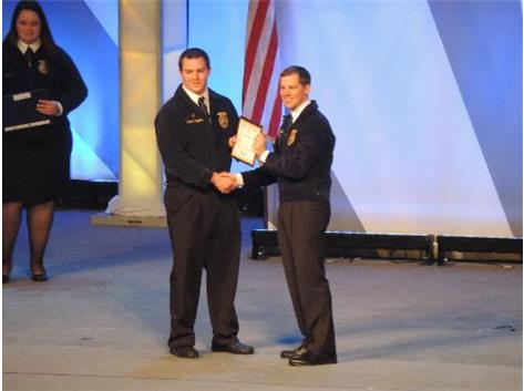 Sam Lowers receives his American Degree