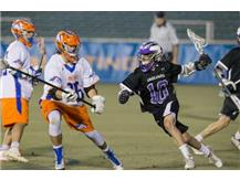Sophomore attackman Logan Marro in 2016 state championship game
