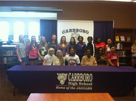 CHS WBB 2012-2013 Team.  Diamond Tyson signing day, CVCC.