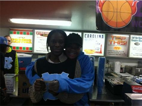 M. Jarrett and Mom, UNC Concessions