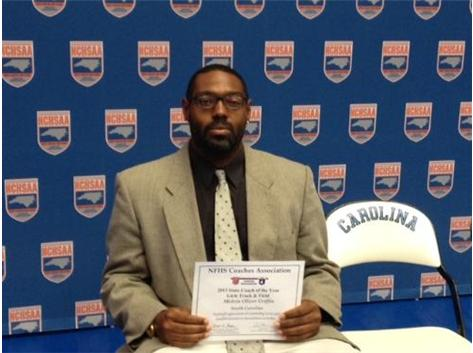 Congratulations to Melvin Griffin, selected as the NFHS Track Coach of the Year in North Carolina!