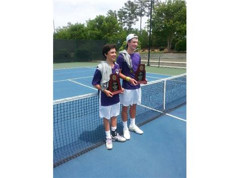 Congratulations to Max Fritsch and Jake Zinn ...NCHSAA 2A Doubles State Champions!