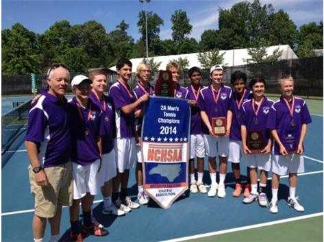 Congratulations to the Jaguar Men's Tennis Team NCHSAA 2A State Champs 2014!