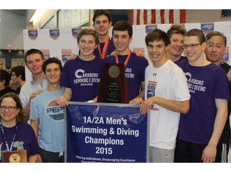 2015 NCHSAA State Champions Men's Swimming & Diving