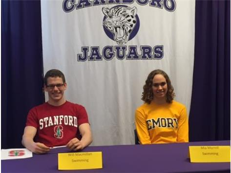 Swimming Commitments: Mia Morrell commits to Emory and Will Macmillan signs with Stanford, Congratulations to Mia and Will!