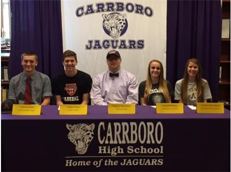 Congrats to our Spring NCAA Commitments: Collin Andres, Skylar Furey, Magnus Herweyer, Amanda Hickey & Natalie Richardson!