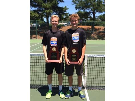 Congratulations to Brian Freiburghouse & Jason Wykoff, 2016 NCHSAA 2A State Doubles Champions