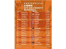 2019 Girls Varsity Basketball Schedule (Does not include tourney games)