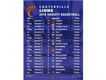 2019 Boys Varsity Basketball Schedule (Does not include tourney games)