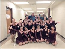 Mr. Sargeant and Mr. Altendhorff join in on the fun after watching the girls perform their amazing routine!
