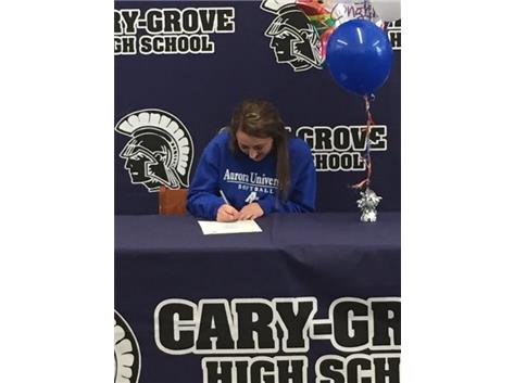 Nicollette Richardi signing to play basketball and softball for Aurora University. Way to go, Nicollette!