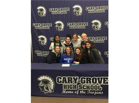 Ladies, way to support Nicollette at her signing to play basketball and softball for the Aurora University Spartans! She truly appreciates it.