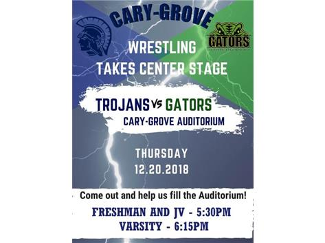 Wrestling takes center stage on December 20th!!