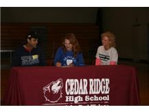 Congrats to Hannah Spear for signing with Brevard  to play soccer.