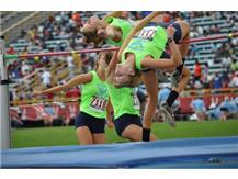 Libby Florence is tenth in the nation at the Junior Olympics for women's high jump.