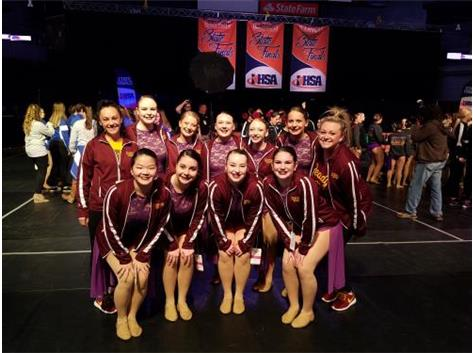 IHSA 7th Place Class 1A Competitive Dance