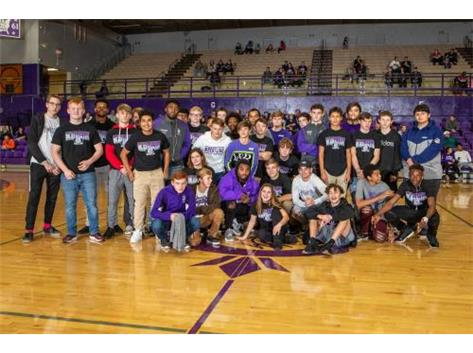 Wrestling Team at the 2018 Winter Kahok Kickoff