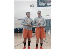 Hack & Connelly holding their All-Tournament team trophies