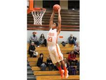 Jerry Davis flies to the basket