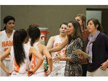 Coach Storm instructs during a time out