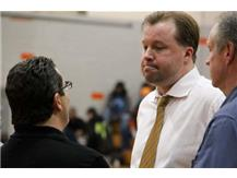 Varsity Boys Basketball Coaches talk it over