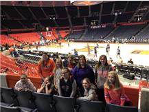 The JH Girls Basketball team took a trip to see the Fighting Illini play