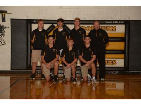 Top Row: Dalton Anderson, Brodi Winge, Andy Onnen. Bottom Row: Weston Lareau, Griffen Walters, Caleb Klecan. Coach: Kevin Venner