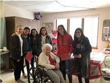 Lady E-Rabs Soccer made and delivered Valentines to the residents at St. Anne's Center.