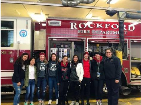 Girls Soccer brought Rockford Fire Department Station 10 donuts to show them how much we appreciate everything they do.