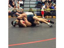 Lampert pins his opponent during the MVADA Tourney