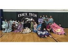 Blanket making with the gymnastics team for Blanketed with Love and Hope to be donated to Children Hospital