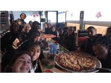2017 Chicago Ag Christmas Tourney Champs enjoying pizza!